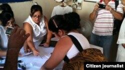 Reporta Cuba. Votación de las Damas de Blanco.