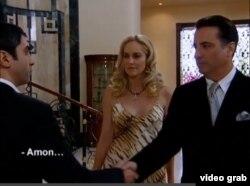 """Andy García y Sharon Stone en su aparición en """"El Valle de los Lobos"""", en 2005."""