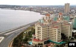 Vista aérea del Hotel Nacional de Cuba.