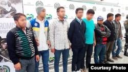 Cubanos arrestados en Colombia.