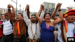 Los manifestantes indígenas temen por su seguridad