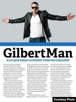 """El reguetonero cubano y fugitivo de EEUU, entrevistado por la revista """"Vistar""""."""