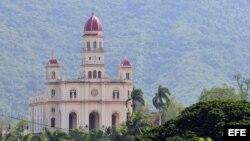 Vista de la Iglesia del Cobre, santuario de la virgen de la Virgen de la Caridad, patrona de Cuba.