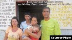 Luis Enrique Lozada Igarza y su familia