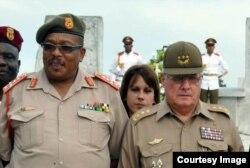 Visita a Cuba del General Shoke en el 2013