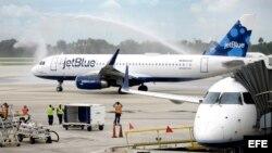 El vuelo 387 de JetBlue fue el primero en viajar a Cuba de forma regular, el pasado 31 de agosto.