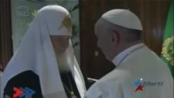 Papa Francisco y patriarca Kirill se abrazan en Cuba