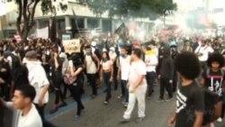 Antidisturbios sofocan una protesta en Río de Janeiro