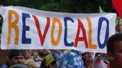 Venezolanos demandan revocatorio en protesta callejera