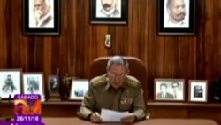 Anuncio oficial de la muerte de Fidel Castro