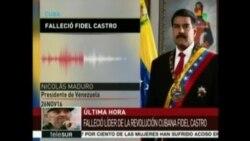 Maduro envía condolencias a Cuba por muerte de Castro