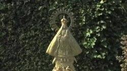 Colocan la Virgen de la Caridad en los jardines del Vaticano
