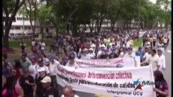 Impiden en Venezuela marcha convocada por estudiantes, profesores y sindicatos universitarios